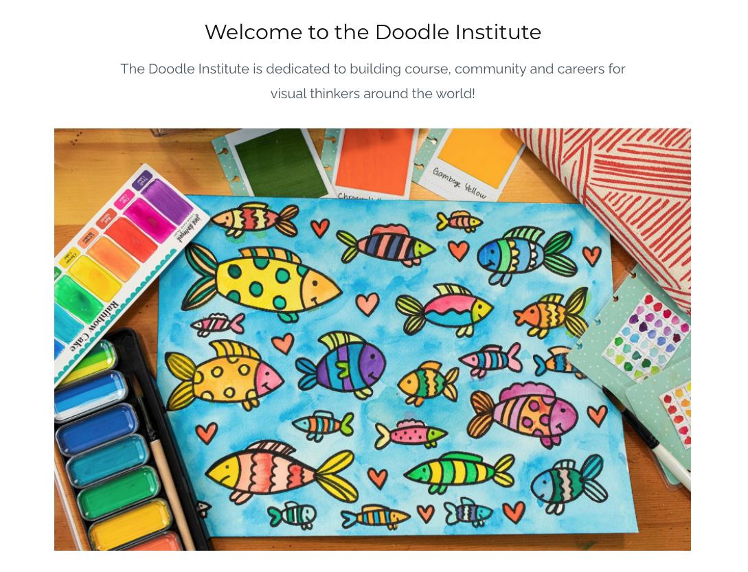 The Doodle Institute website screenshot