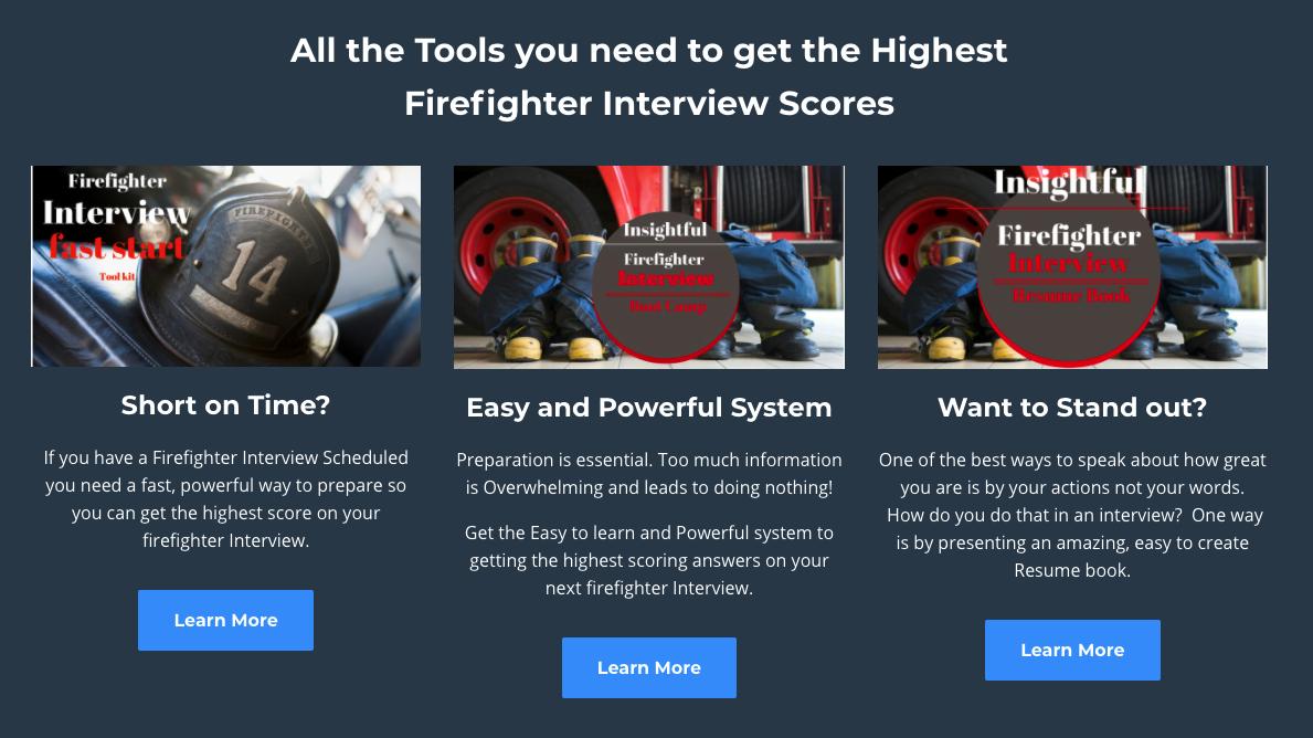 Screenshot of Insightful Firefighter website