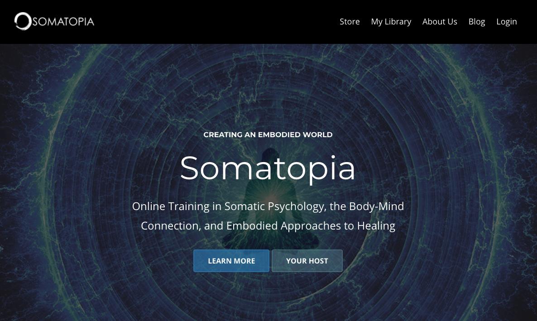 Somatopia website screenshot
