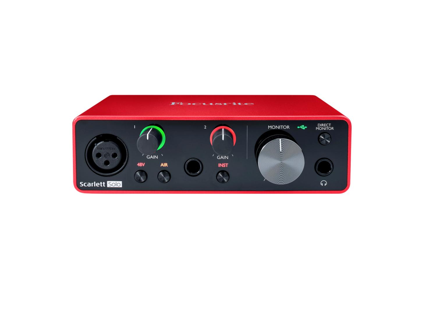 Image of a Focusrite Scarlett Solo USB Audio Interface (Gen 3)