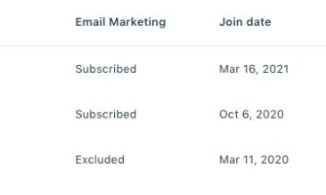 Screenshot of the Kajabi app email marketing tab within the CRM