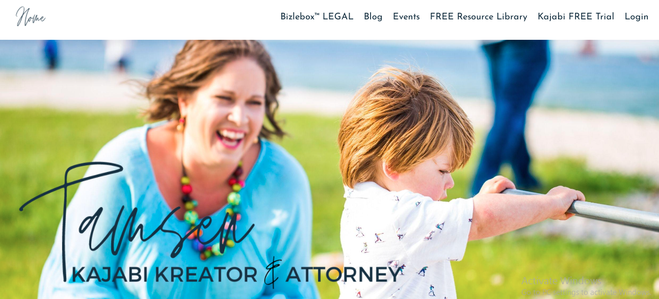 Screenshot of the Tamsen Horton website