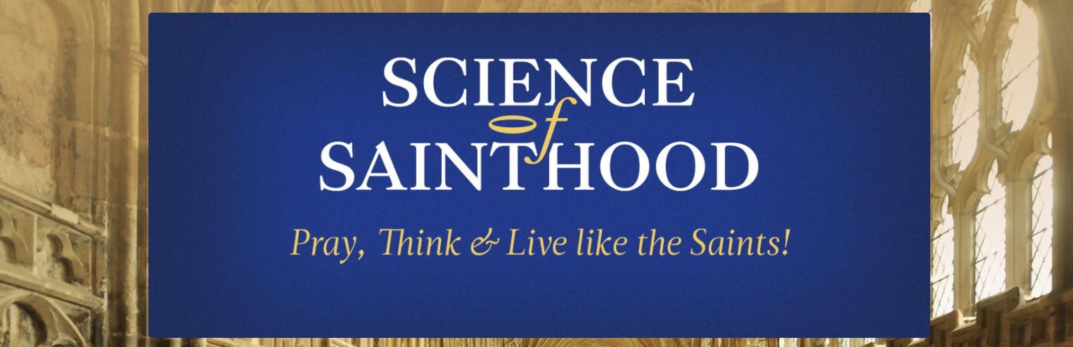 Screenshot of Science of Sainthood website