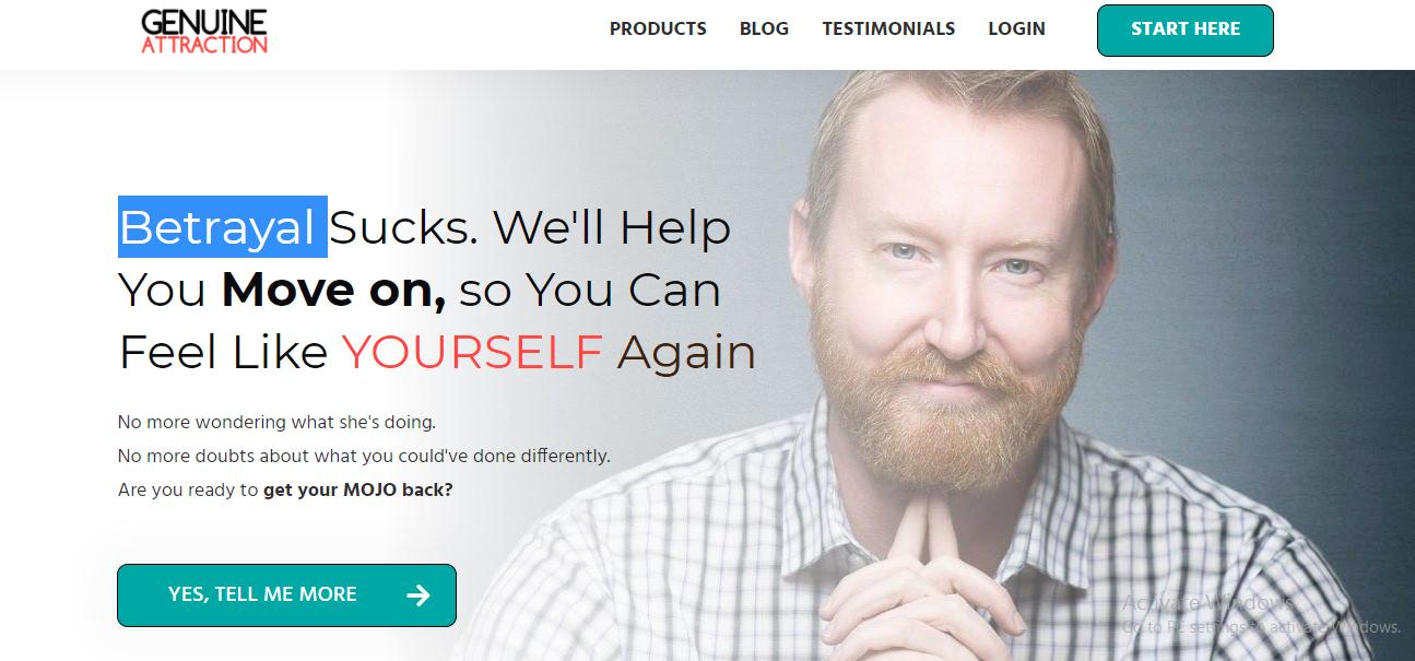 screenshot of The Genuine Attraction website