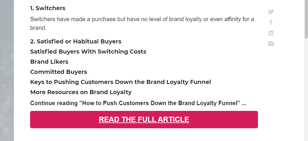 """Screenshot of the MarketingProfs blog requesting that people click a pink button saying """"Read the Full Article"""""""