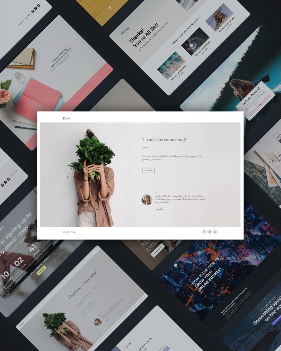 Flow thank-you landing page template screenshot