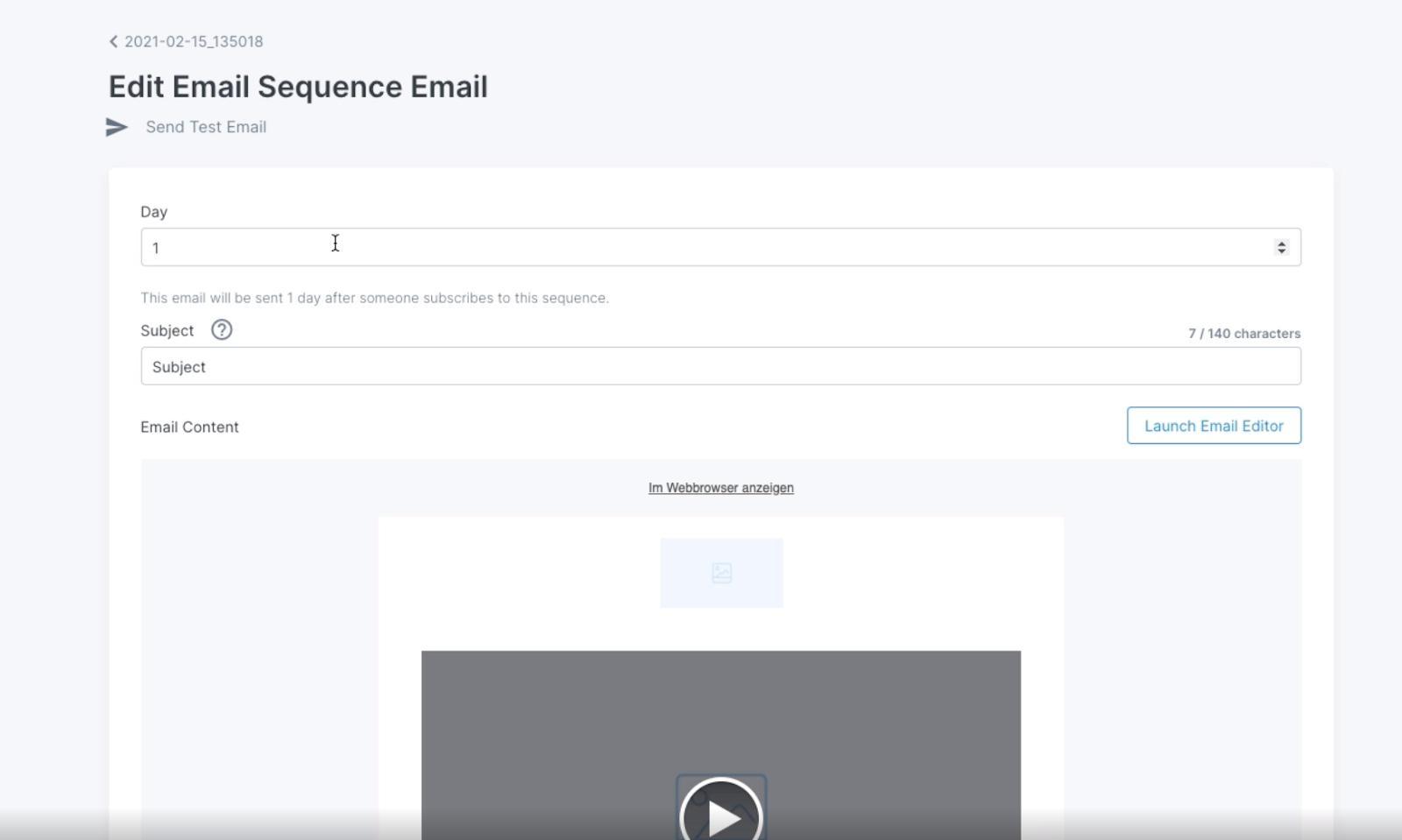 Kajabi email editor screenshot