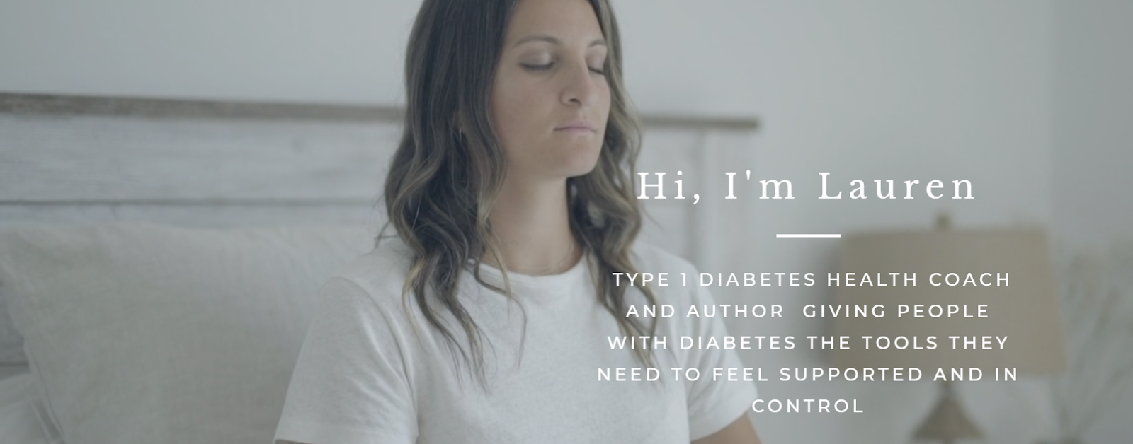 Screenshot of the website of diabetes health coach Lauren Bongiorno