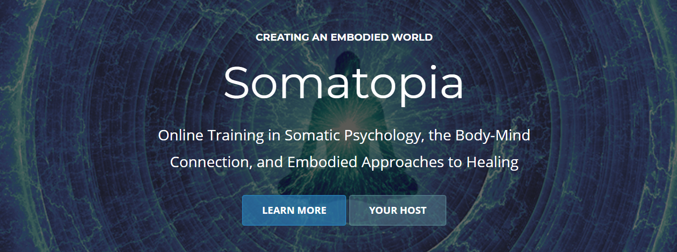 Screenshot of Somatopia website - online training in body-mind connection