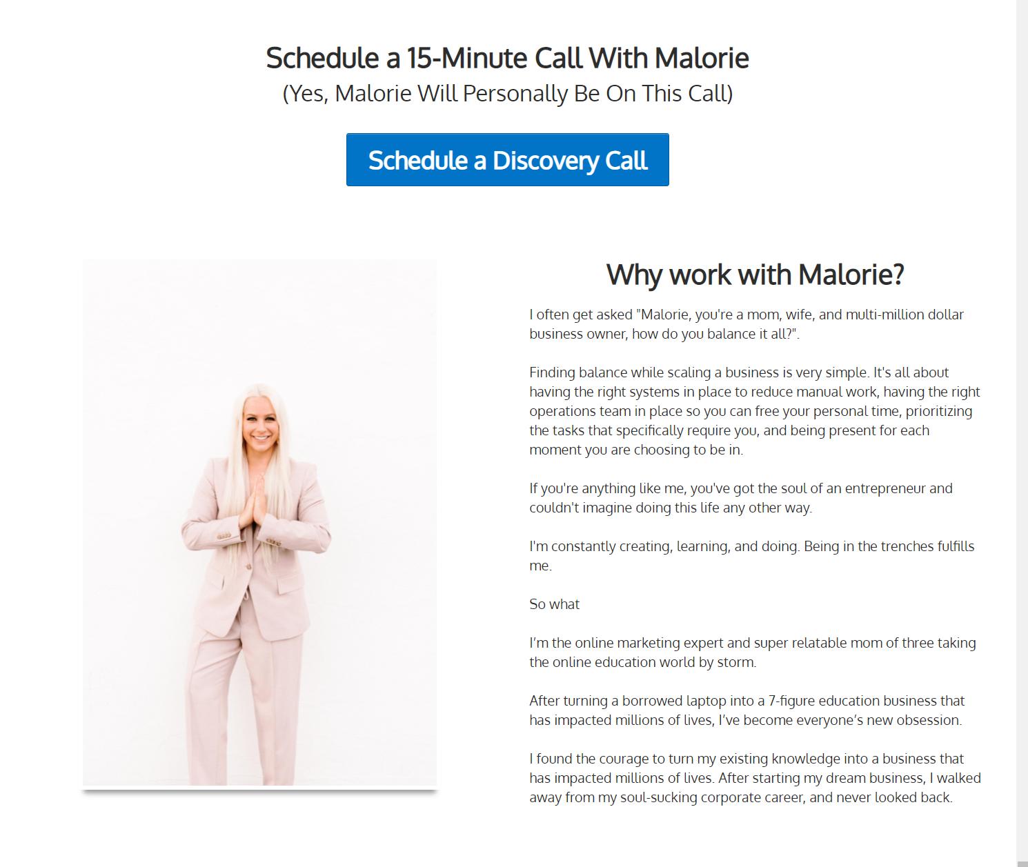 Screenshot of the Coaching Lab website