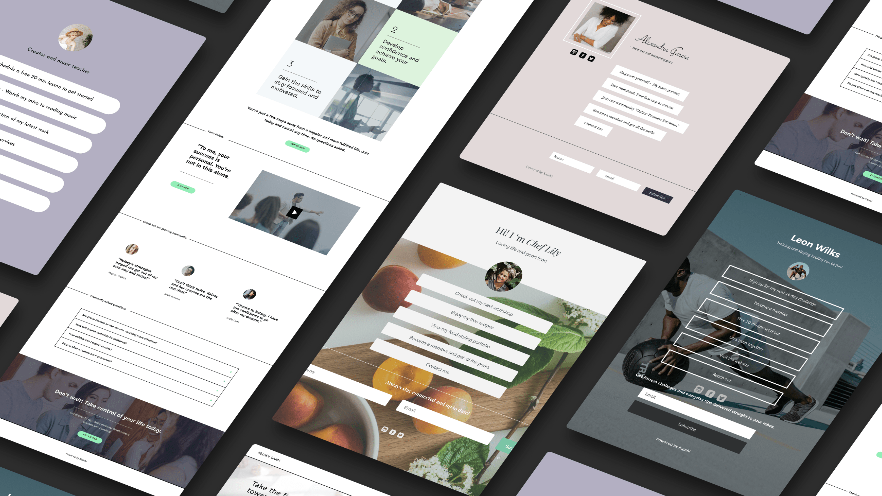 Link in Bio landing page templates now available in Kajabi