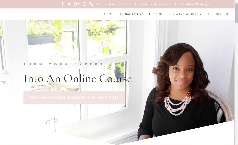 Screenshot of Angel Santos' website