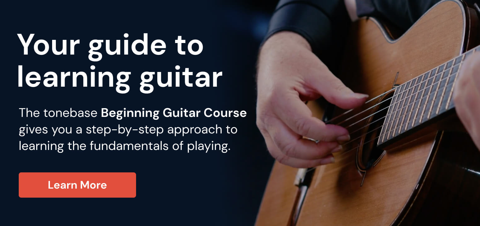 Learn how to play classical guitar with the tonebase Beginning Guitar Course