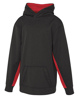 Game Day Fleece Colour Block Hooded Youth Sweatshirt