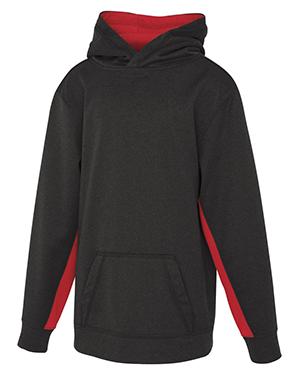 Game Day Fleece Colour Block Hooded Youth Sweatshirt