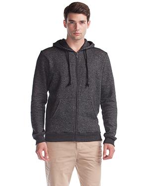 Artisan Melange Full-Zip Hooded Sweatshirt