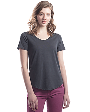 Ladies Relaxed Fit Scoop Bottom T-Shirt