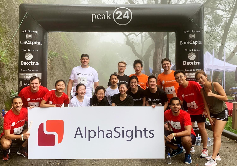 AlphaSights team taking part in peak24