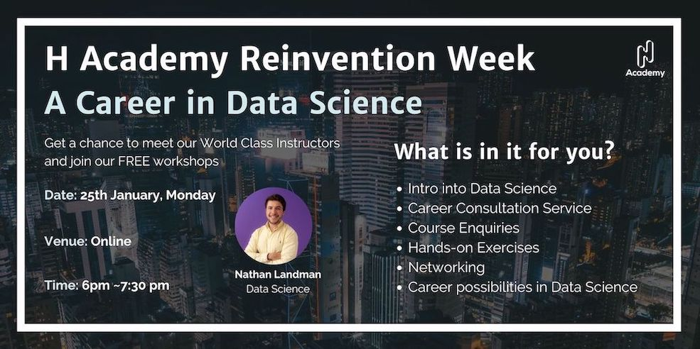 2021 Reinvention Week Day 1: A Career in Data Science (Free)