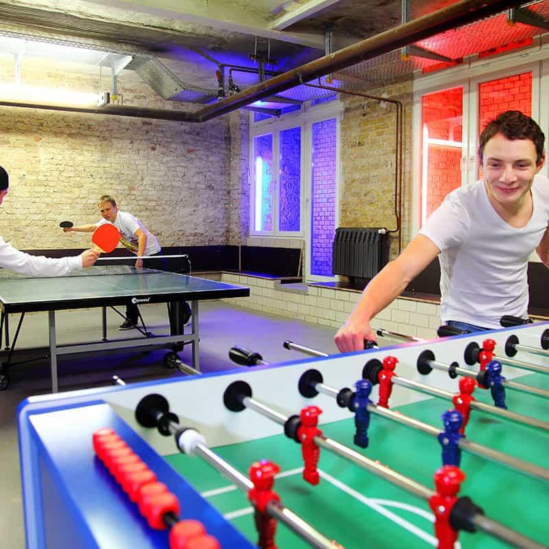 Industriepalast Hostel Games Room