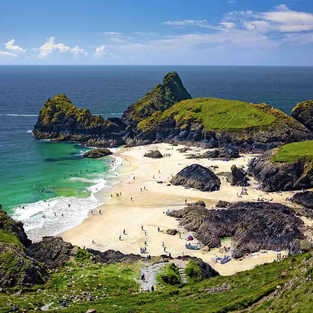 Cornish Beach Visit