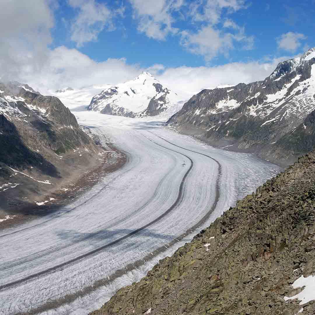 The Aletsch Glacier - Glacier Landforms