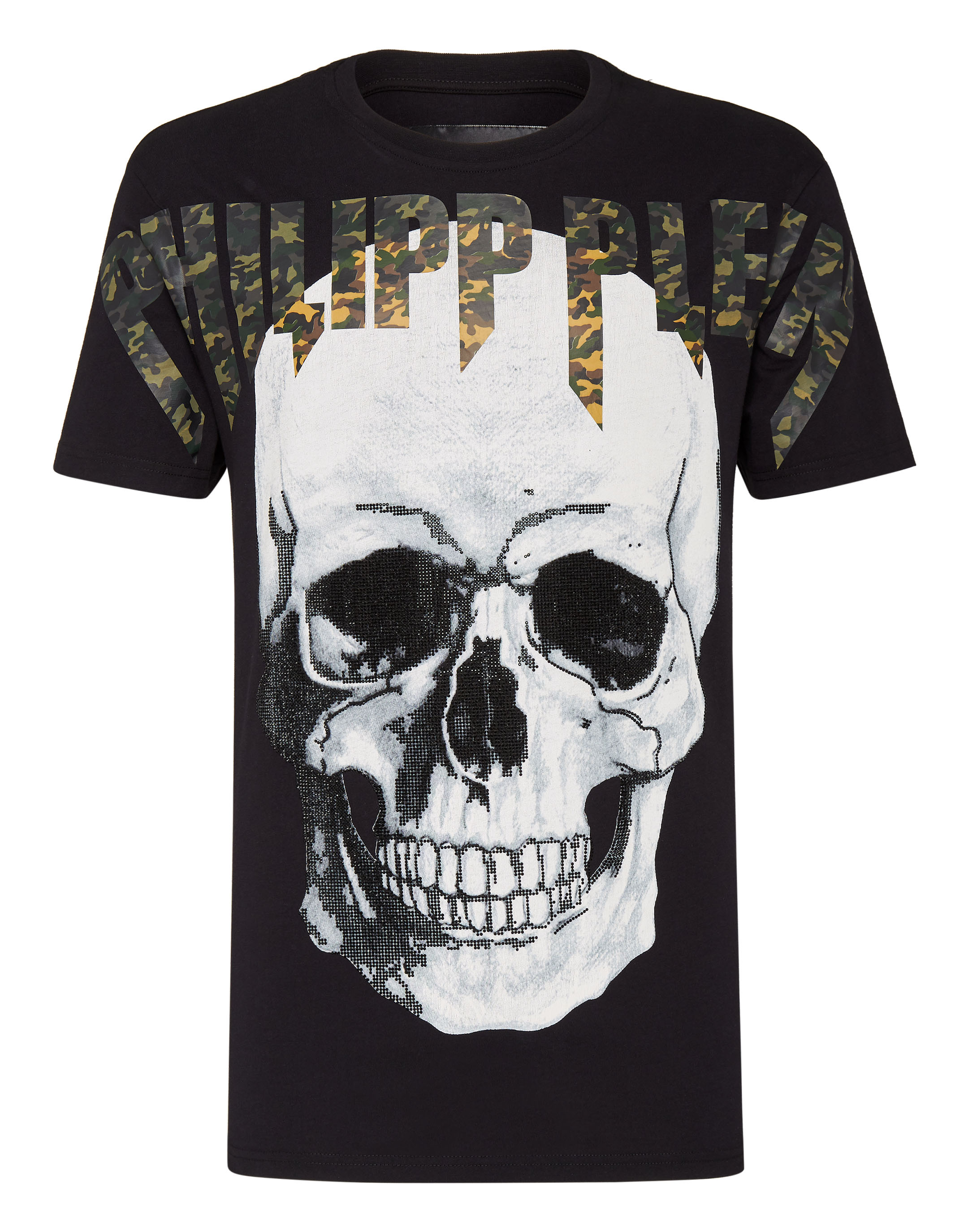 Round Neck Skull Strass T-Shirt