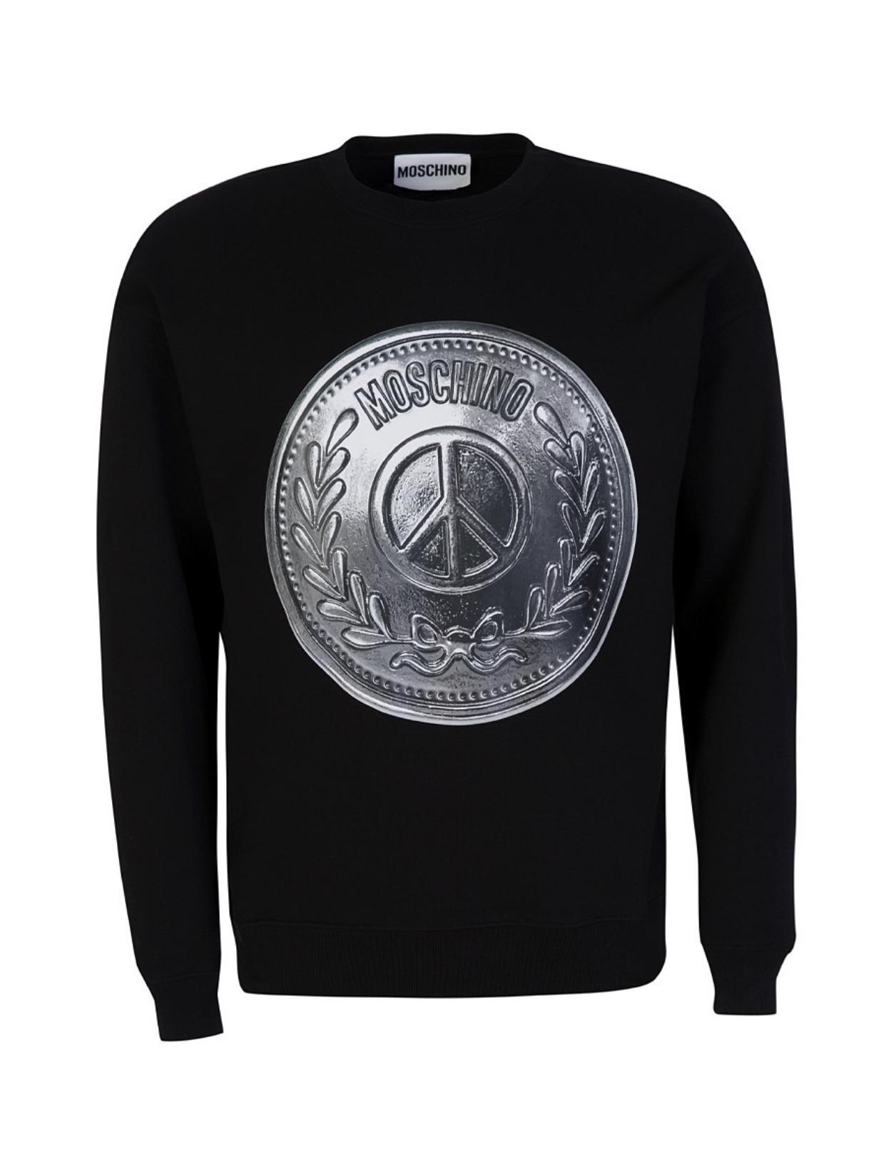 Peace Coin Print Sweatshirt