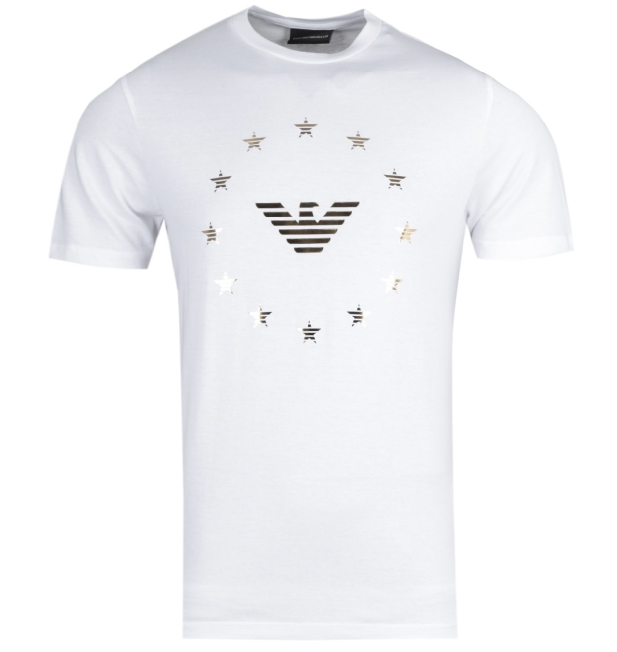 White gold star t-shirt
