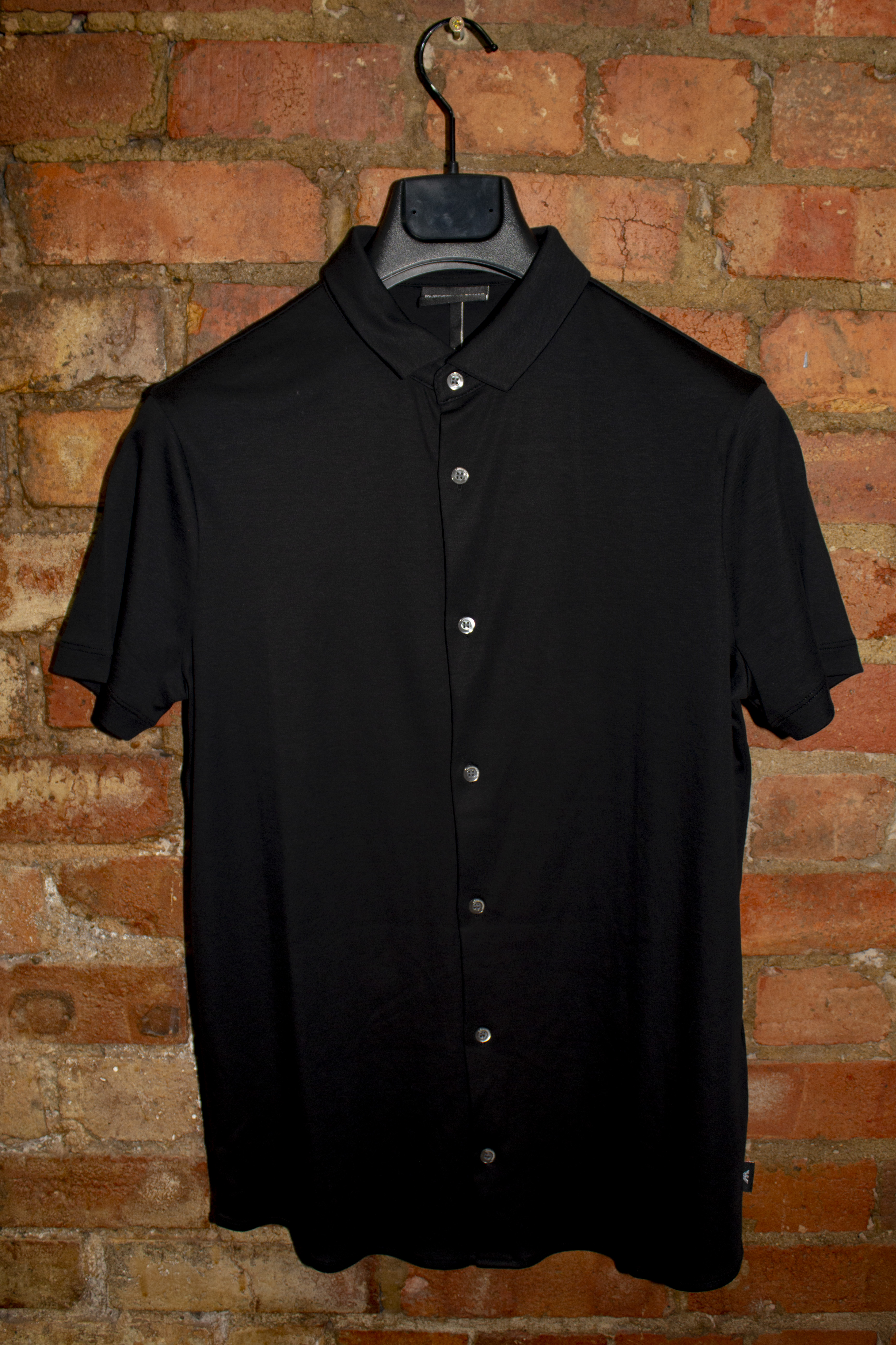 Black Short Sleeve Jersey Shirt