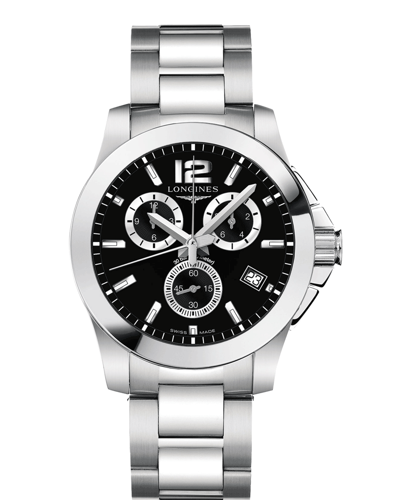 Conquest Black Chronograph 41mm