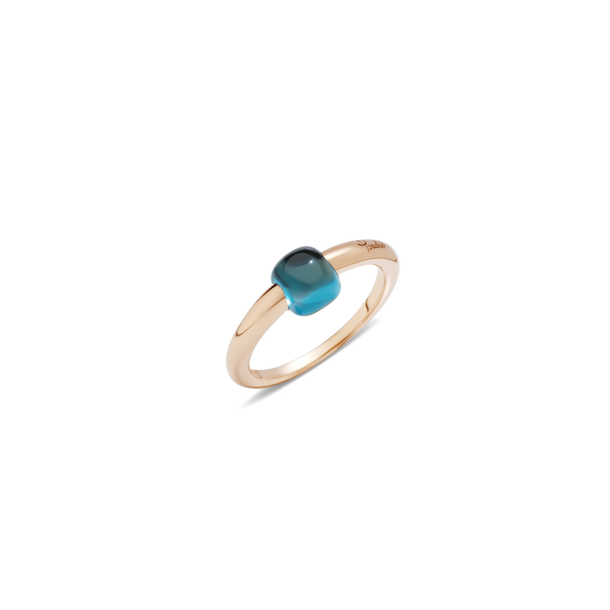 M'AMA NON M'AMA RING BLUE LONDON TOPAZ