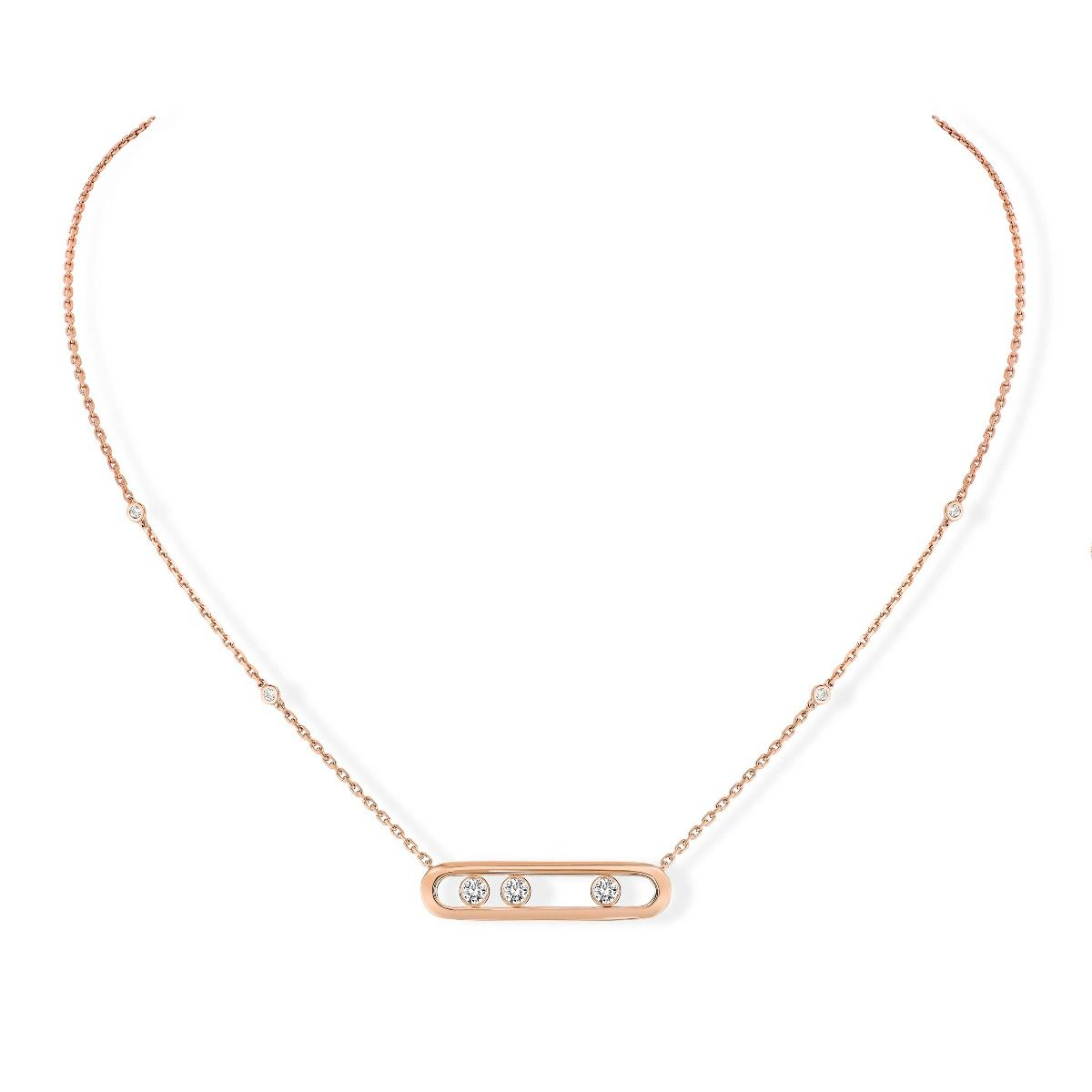 Move Necklace Pink Gold