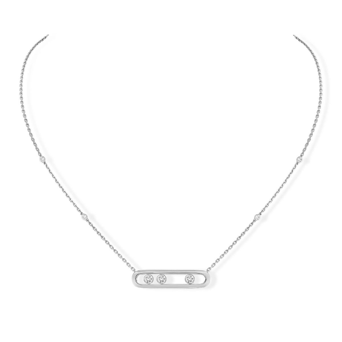 Move Necklace White Gold