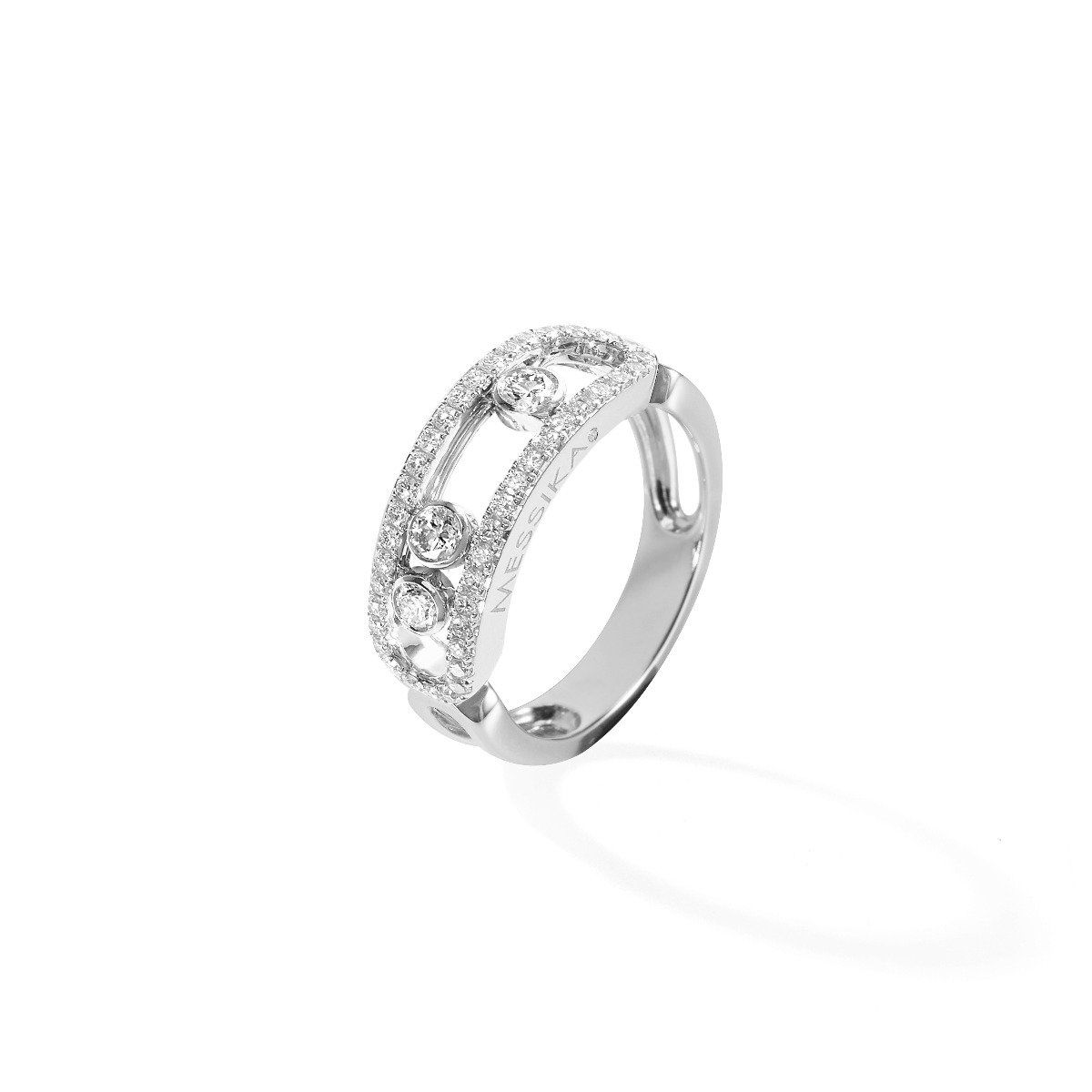 Move Classic Pavé Ring White Gold