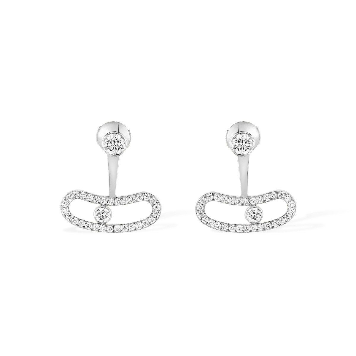 Move uno bellow the lobe earrings  white gold