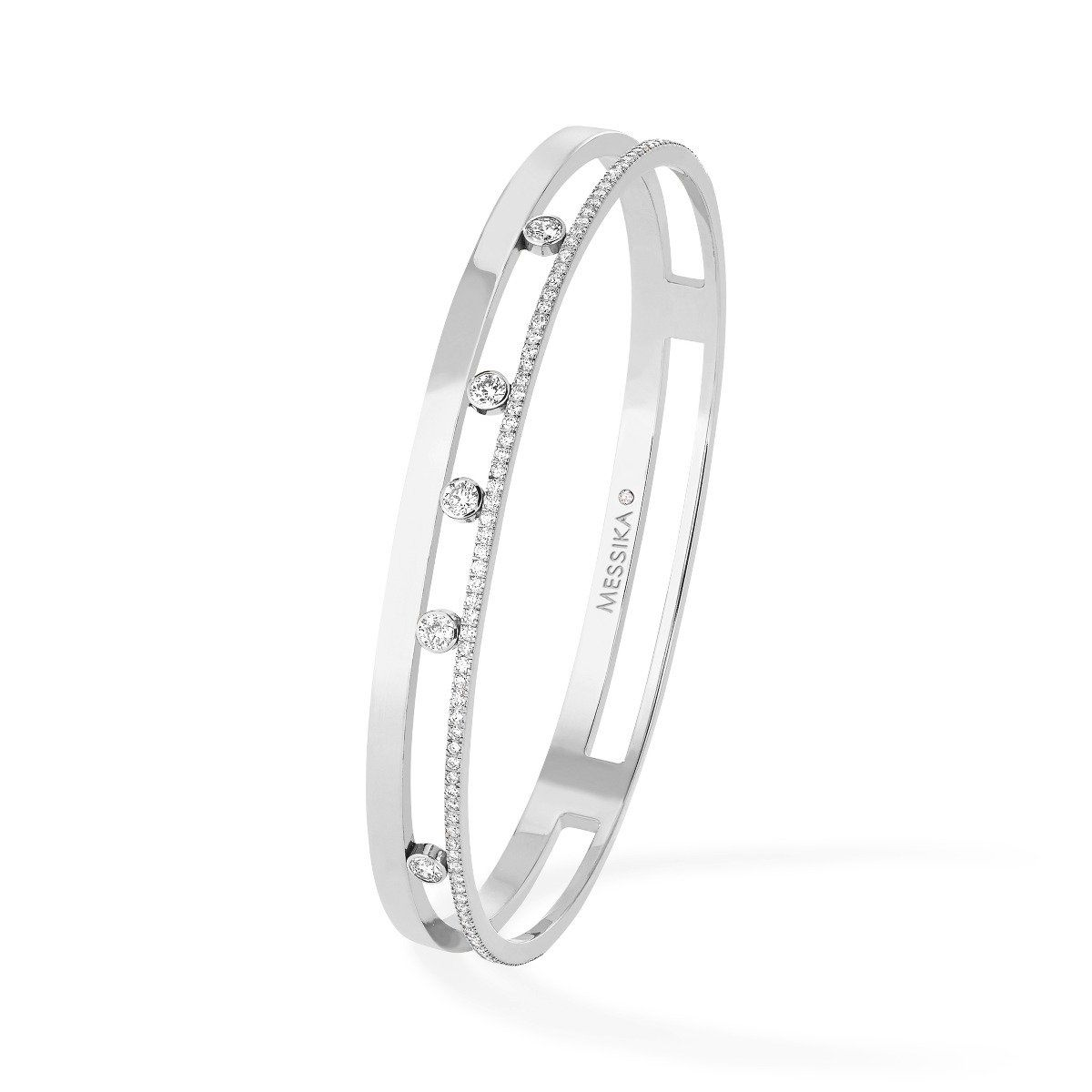 Move romane bangle bracelet  white gold