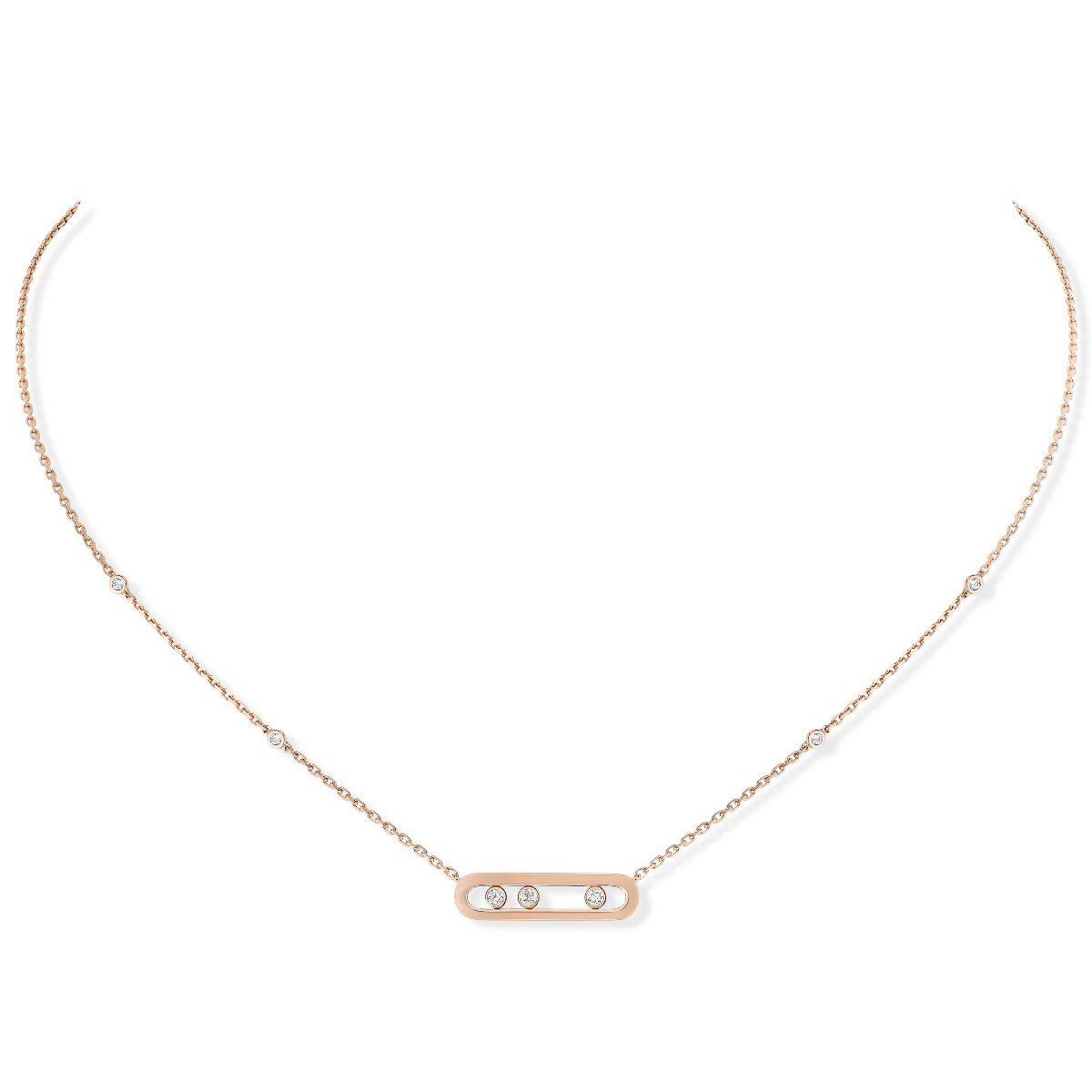 Baby Move Necklace Pink Gold