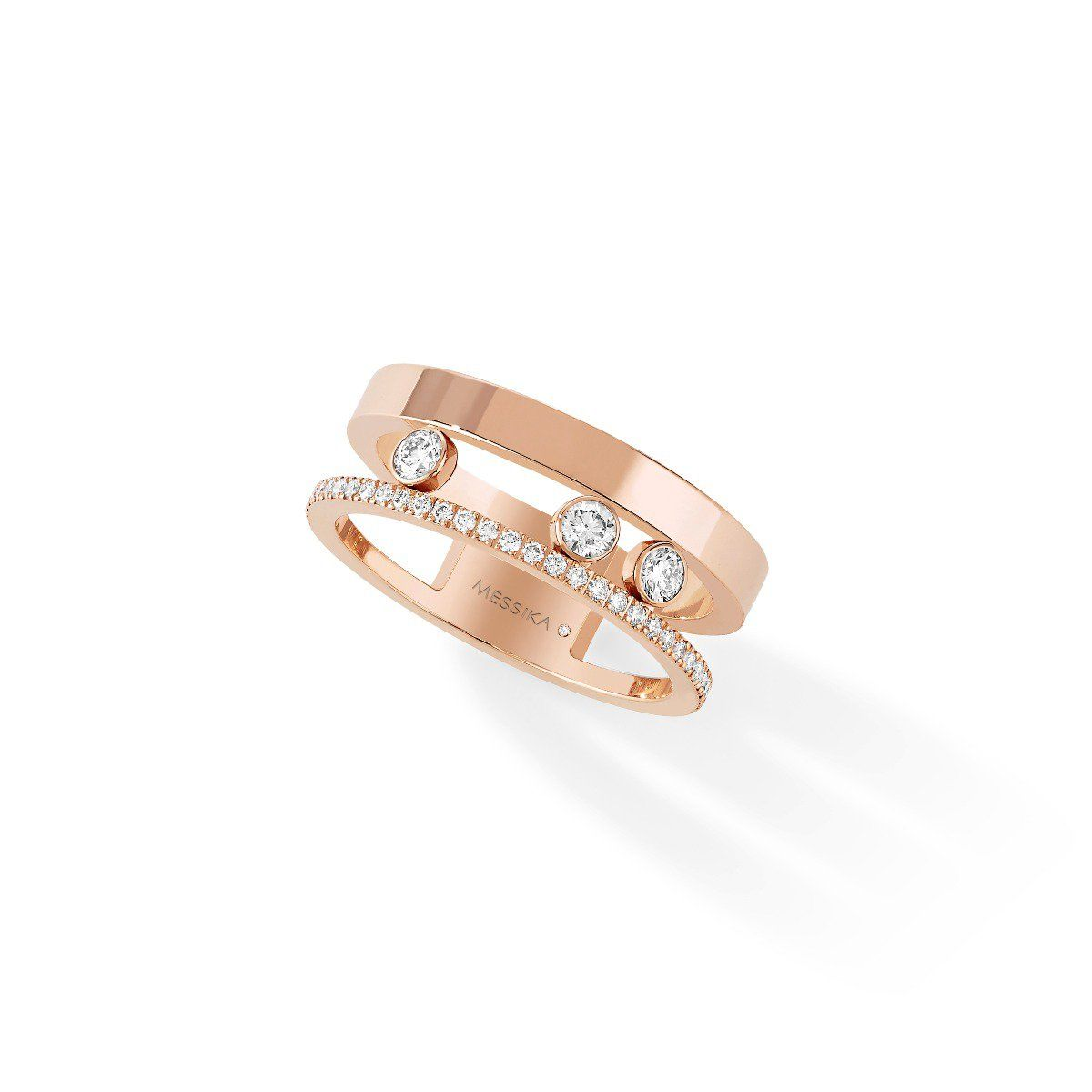 Move romane ring pink gold