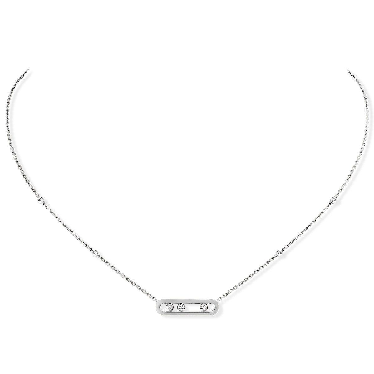 Baby Move Necklace White Gold