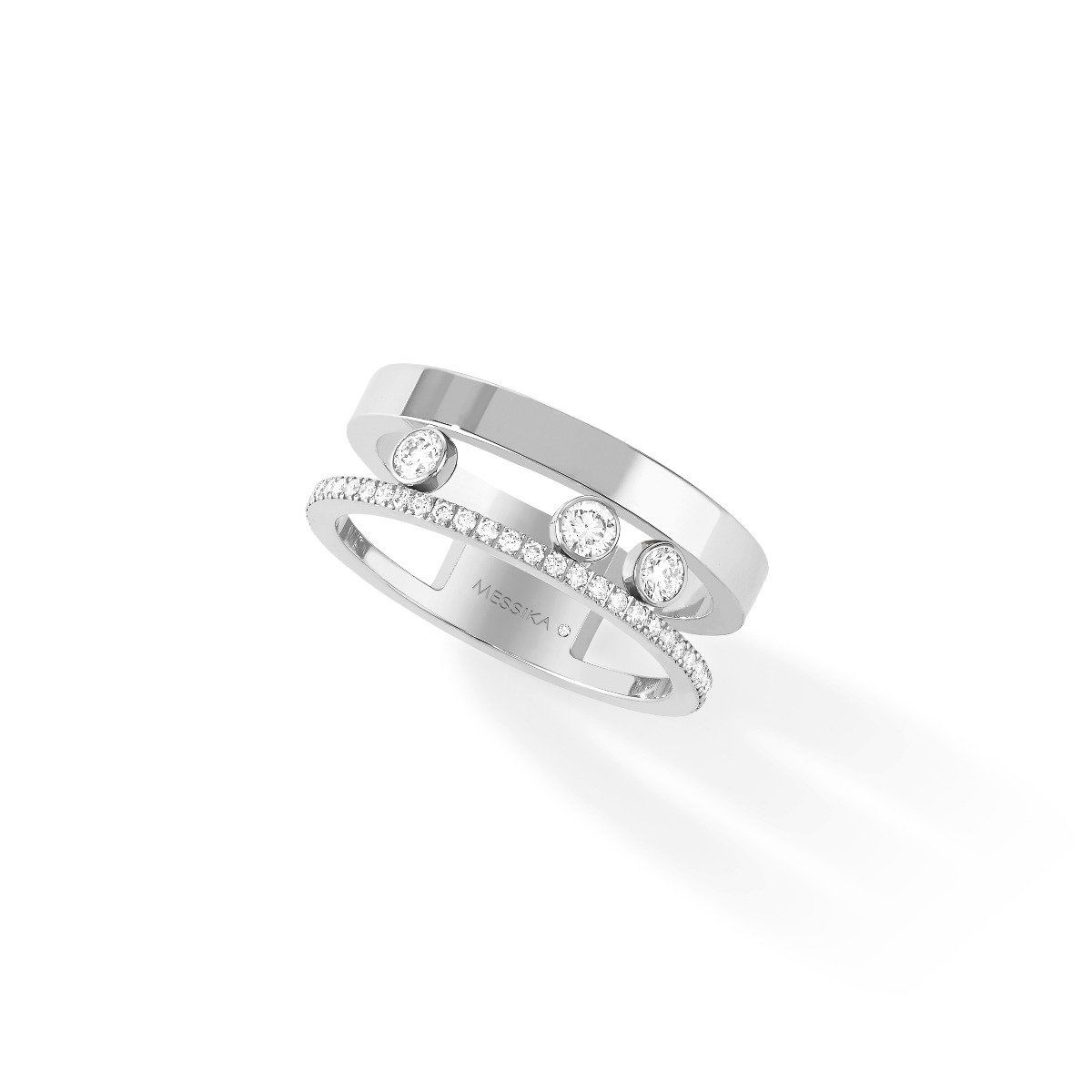 Move Romane Ring - white gold