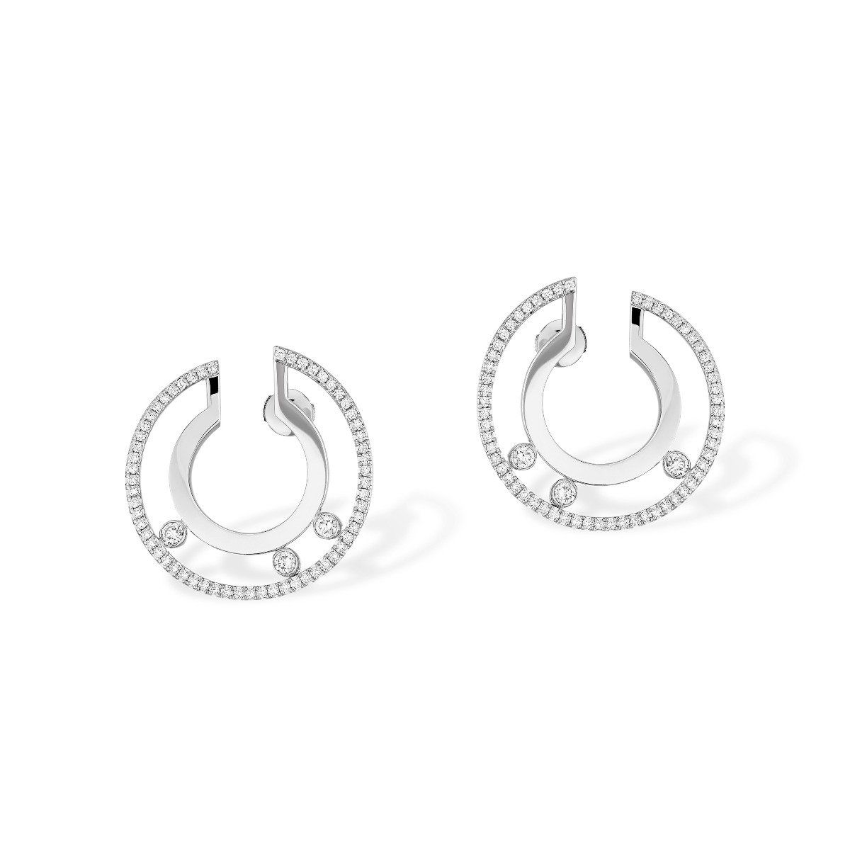 Move Romane Small Hoop Earrings - white gold
