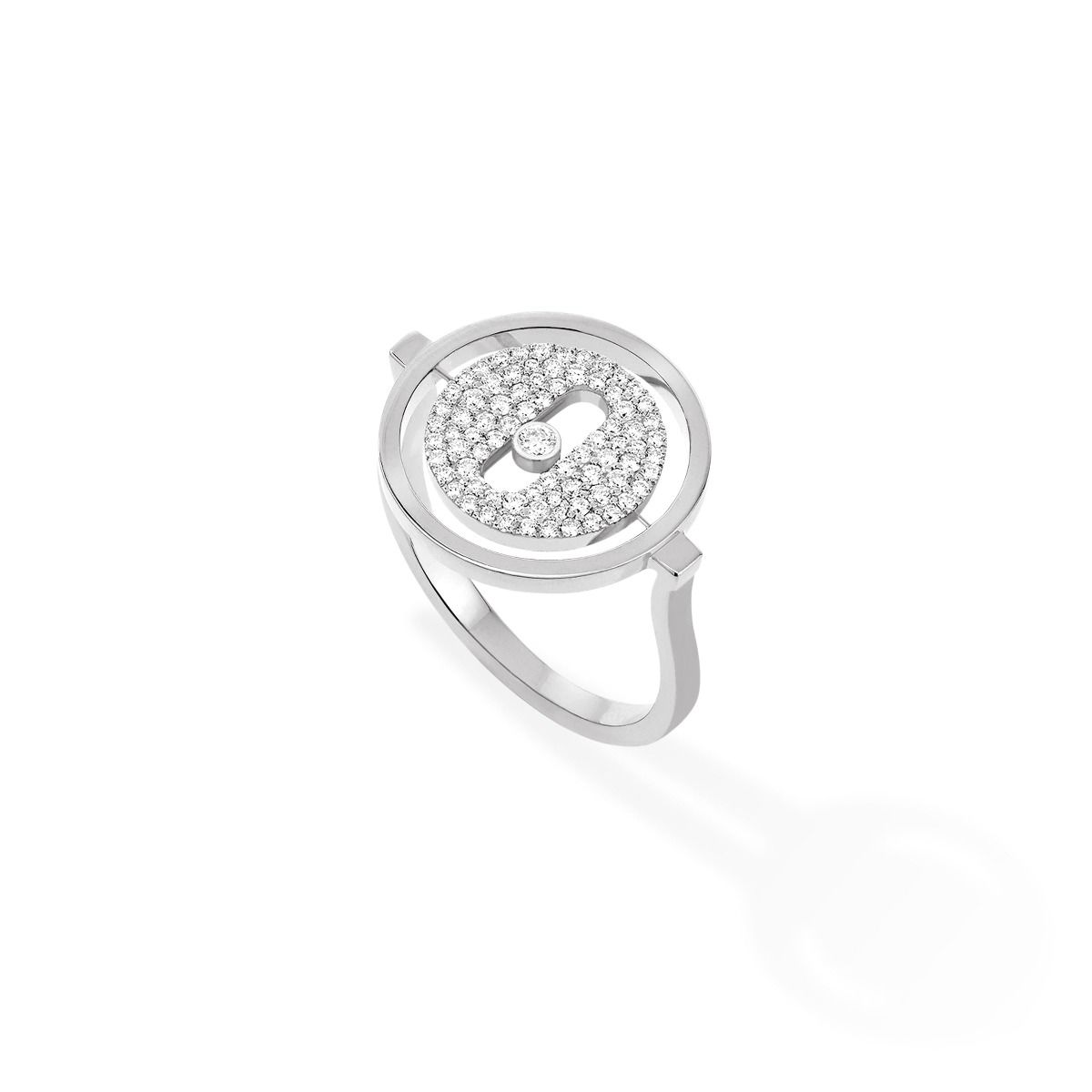 Lucky Move Pavée Pm Ring - White Gold