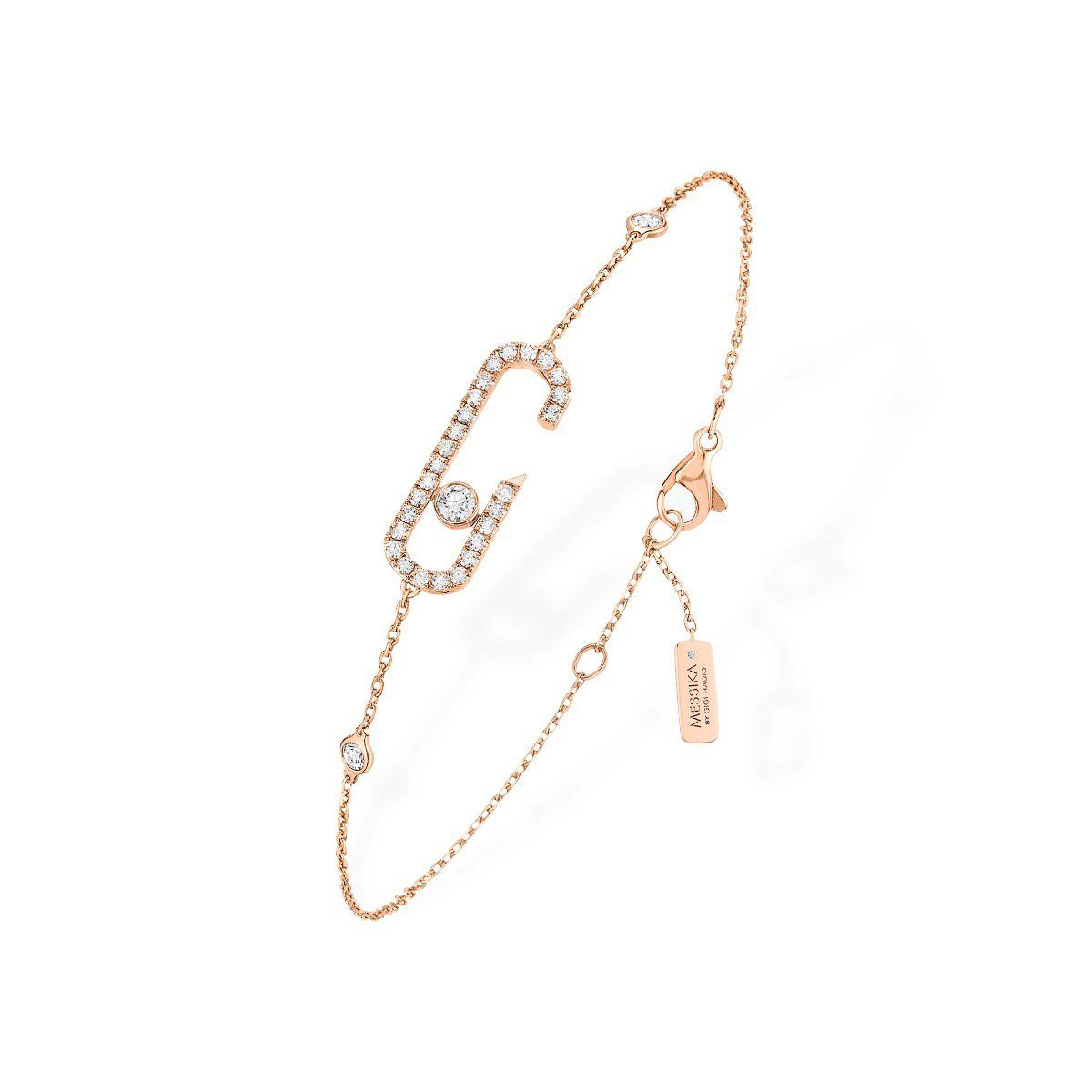 Move Addiction Pavé Bracelet - pink gold