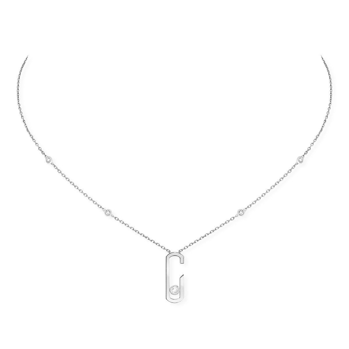 Move Addiction Necklace - White Gold