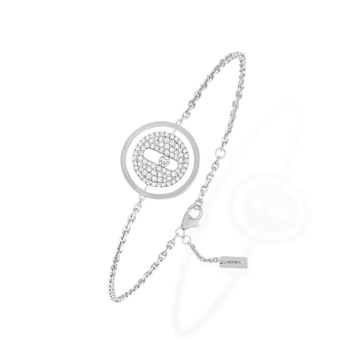 Lucky Move Pavé Pm Bracelet - White Gold