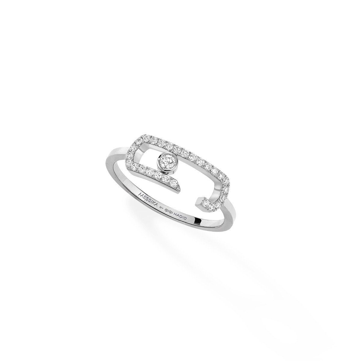 Move Addiction Pavé Ring - White Gold