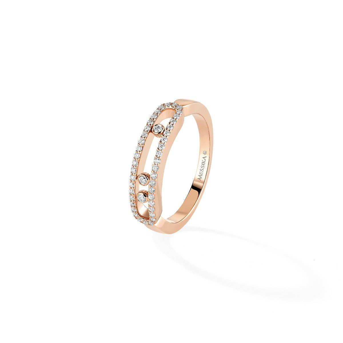 Baby Move Pavé Ring Pink Gold