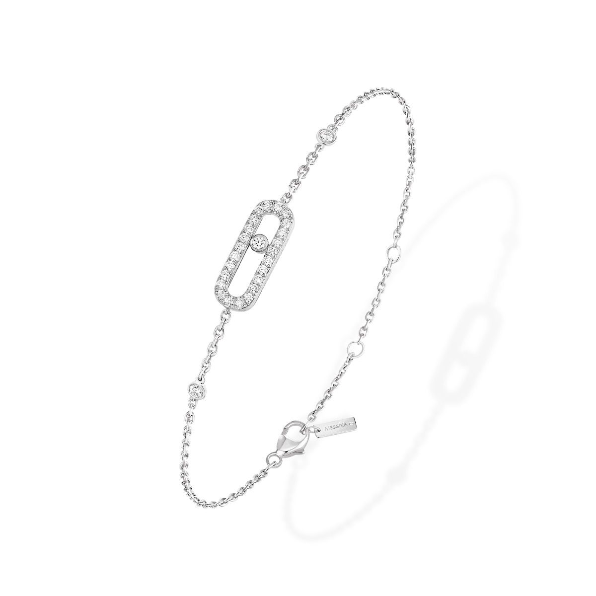 Move Uno Pavé Bracelet - White Gold