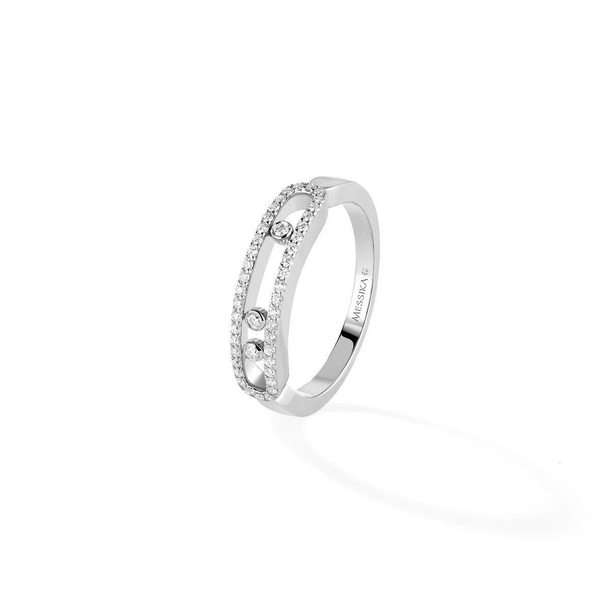 Baby Move Pavé Ring White Gold